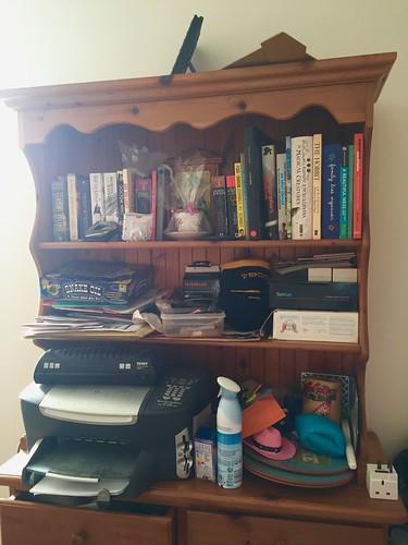The de-cluttering begins - dresser