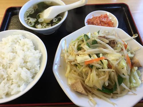 ヤサイ炒め定食@一平ソバ