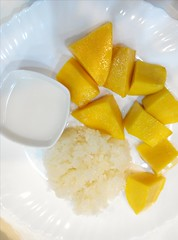 Went to Engie office and shared. Met David for dinner. Went out with Naila for more dinner. This Mango Sticky Rice was just nice!
