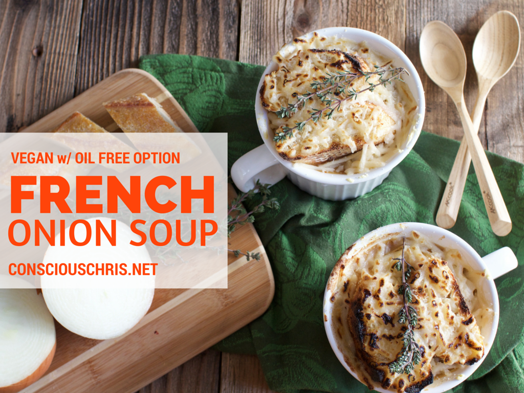 Vegan French Onion Soup -- Consciouschris.net