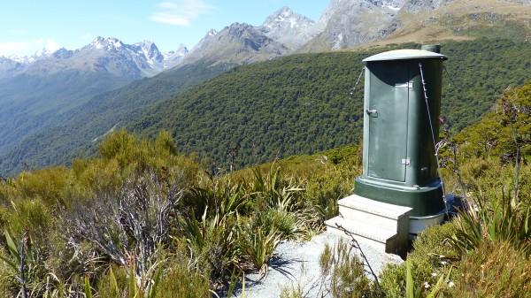 Toilettes d'altitude, après 1h30 de marche en montagne