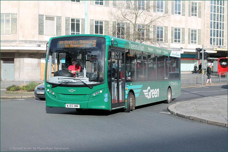 Plymouth Citybus 154 WJ65HMK