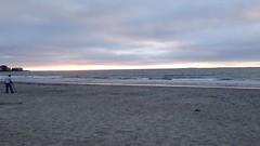 Quiet evening on a New England beach