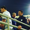 "Participated in my first pitch ""invasion"" and got to see Dan Carter go up the stairs to collect the Cup #rugby #hongkong"