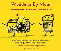 Weddings By Maan  Bookings open for Summers/Winters 2016 We are Specialized in Bridal Photo Shoots, Event Photography, Video Coverage, Portfolio Shoots, Family Portraits. facebook.com/weddingbyMaan 0 3 3 3 8 6 1 9 3 2 0 #Sialkot