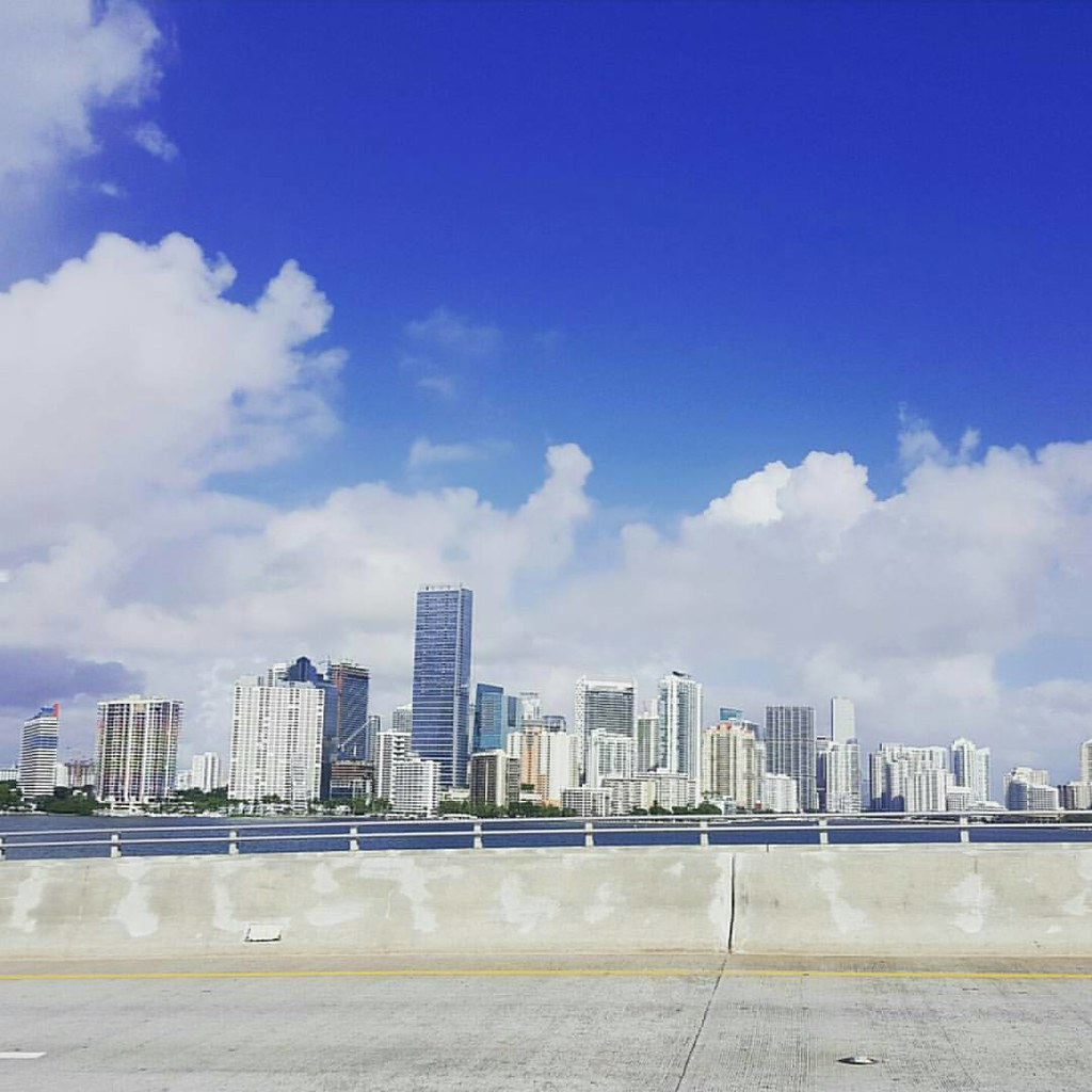 From a recent 🚲 ride. What I wish I was doing now! 💙 #Miami #mybeautifulcity