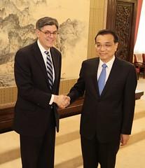 U.S. Department of the Treasury: Treasury Secretary Jacob J. Lew meets with Premier Li Keqiang (Tuesday Mar 1, 2016, 9:37 AM)