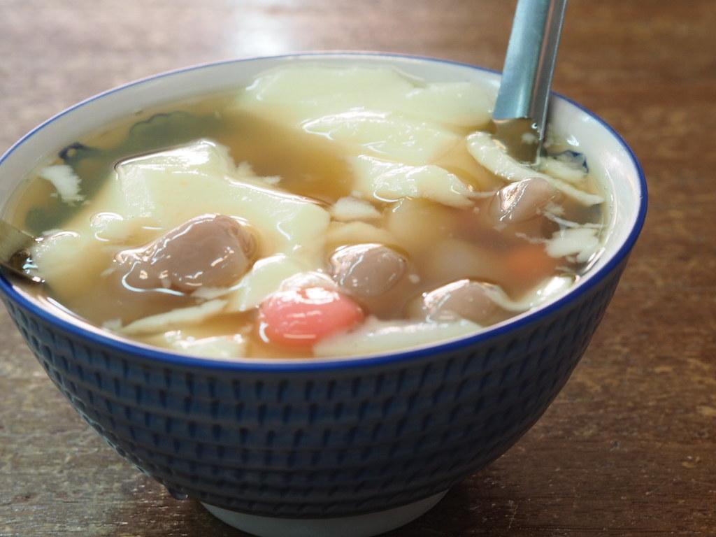 安平周氏豆花の薑汁熱豆花