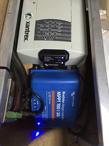 Victron MPPT solar controller installed