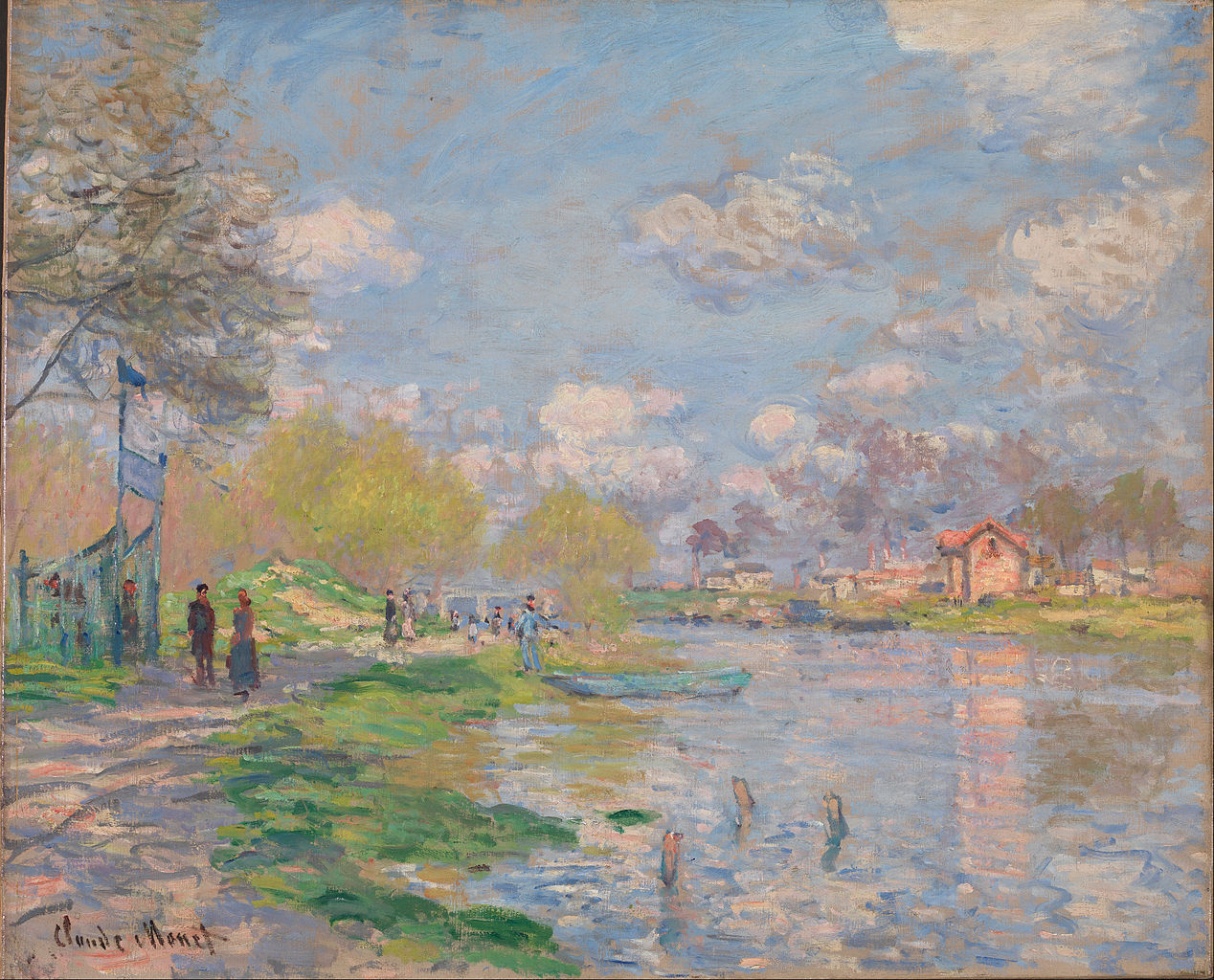 Spring by the Seine by Claude Monet, 1875