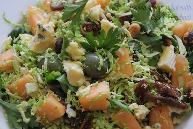 Shaved Sprout Salad with Figs & Hazelnuts 1