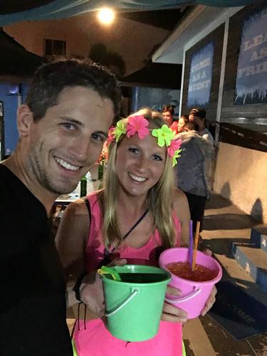 Buckets beim Pregaming