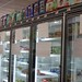 frozen food cases before stocked
