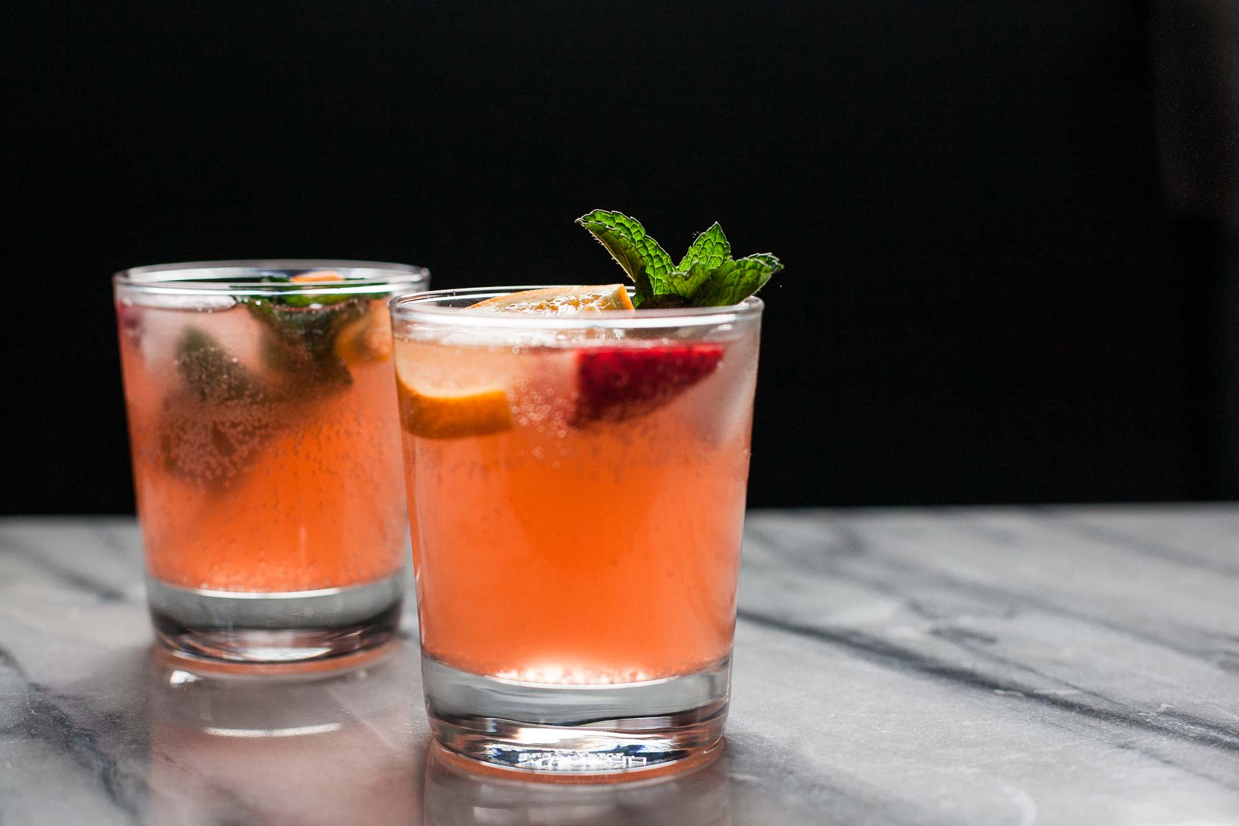 Strawberry Orange Ginger Fizz (Paleo, Refined sugar free)