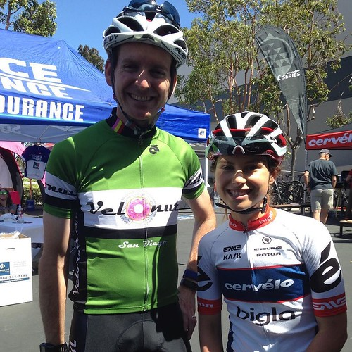 Post ride photo op with Gabrielle Pilote Fortin. Thanks @cervelocycles for the bike!