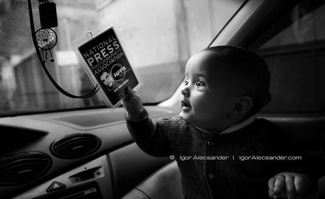 daddy's little journalist  :)