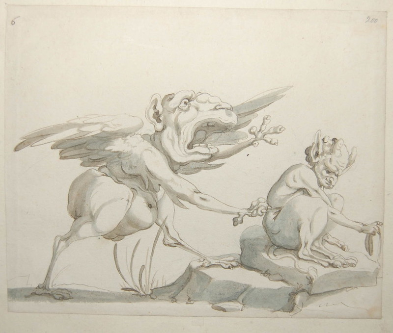 Arent van Bolten - Monster 200, from collection of 425 drawings, 1588-1633