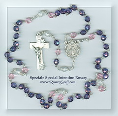 Czech Glass Custom Speziale Special Intention Rosary