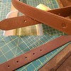 Also in-progress on today's projects, a natural veg-tan full grain leather belt treated with neatsfoot oil for @subdog_millionaire   #handmade #leather #belt