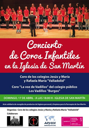Concierto Solidario Coros infantiles. Iglesia San Martín. Domingo 17 de abril