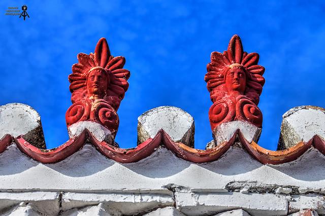 Ornamental edge tiles. Poros island