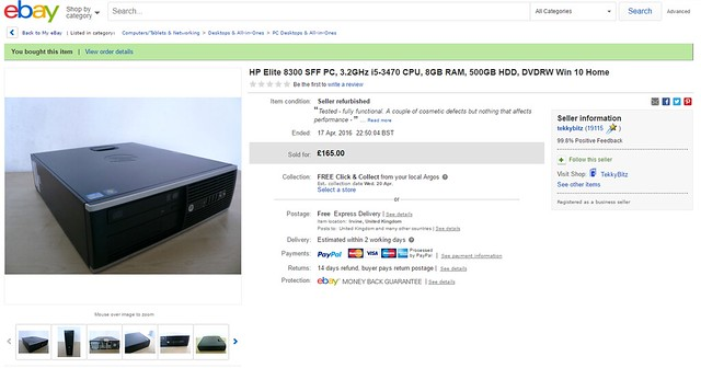 eBay Listing for a cheap PC