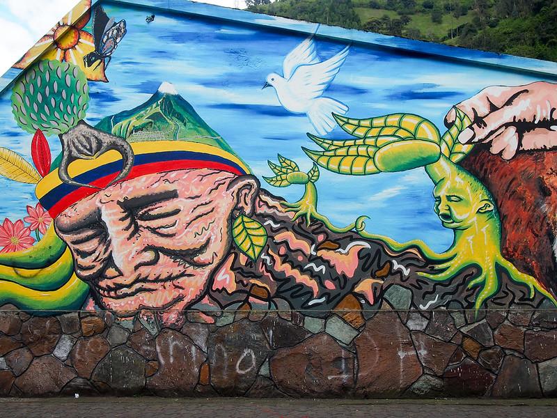 Street art in Banos, Ecuador
