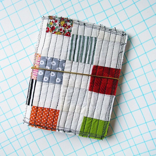 "I've decided that I'm going to do a few things to celebrate my #etsyversary. To start out, I've been sewing up a storm and so Tomorrow (May 1st) I'm going to do a #giveaway of one of these quilted book covers with mini journals inside. I'll post a ""giveaw"