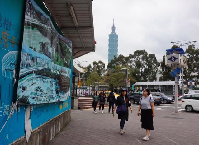 国父記念館前 台北ドーム