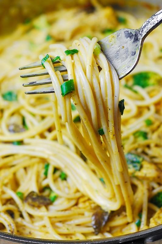 chicken pasta, mushroom pasta, golden mushroom soup, gluten free dinner recipes