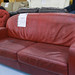 2 seater wine leatherette sofa