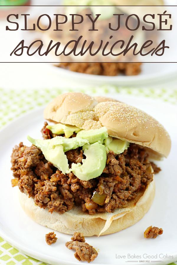 Kick up the flavor of dinner with these Sloppy José Sandwiches! They're perfect for game day, too! #KickUpTheFlavor AD