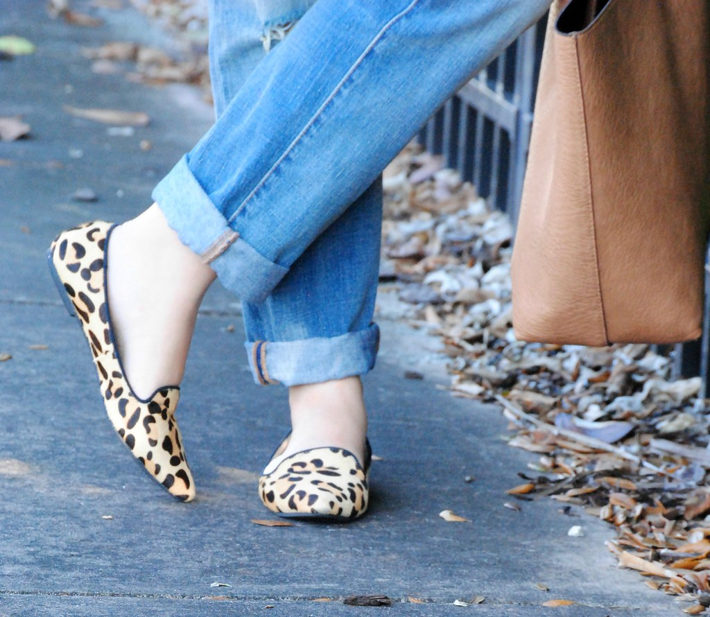 JustFab leopard loafers