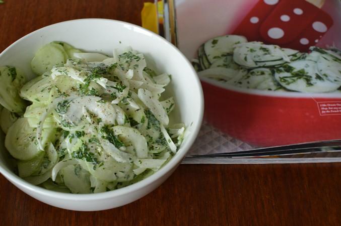 Roni's creamy cucumbers