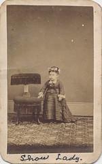 CDV of a female sideshow dwarf