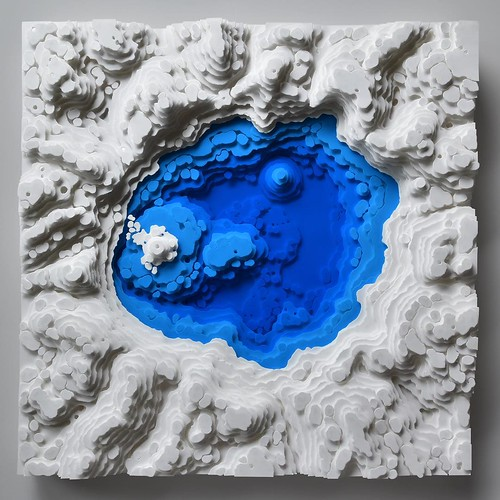 Paper Sculpture by Olga Skorokhod - Crater Lake