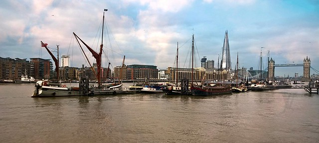 the Thames at Hermitage Wharf, Wapping, London