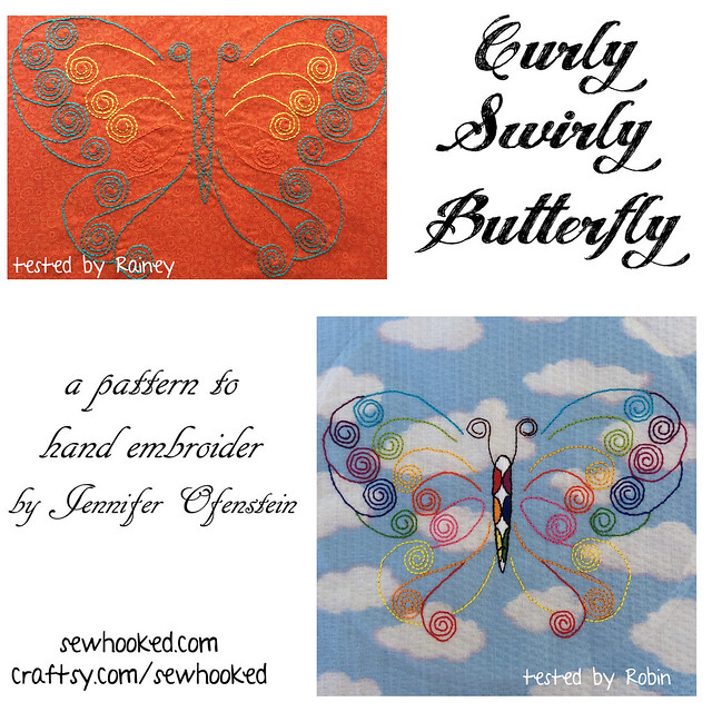 Curly Swirly Butterfly