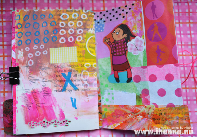Mini Art Journal Doodles & Collage - created by iHanna