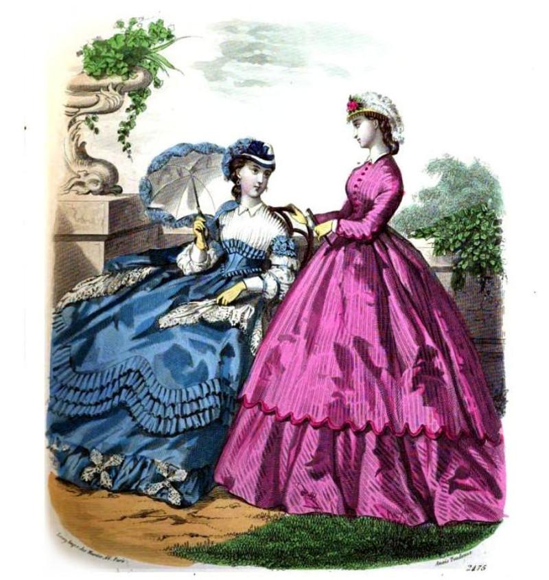 1860's fashion plate