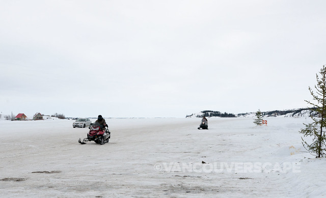 Ice 'highway' on Slave Lake