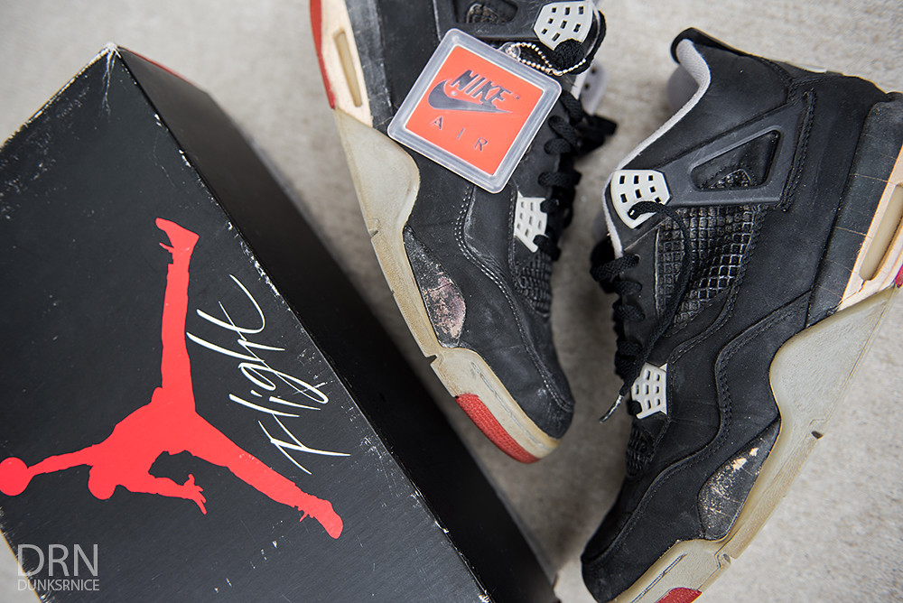 1989 Black Cement IV's.