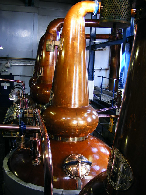 Still-house, Deanston Distillery, Deanston, Stirlingshire