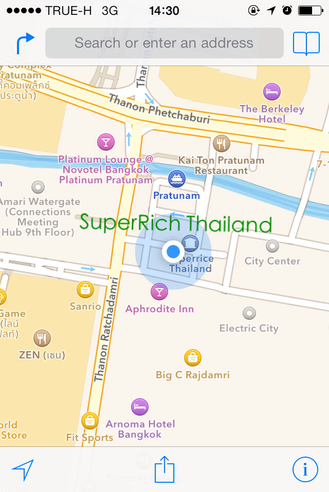 SuperRich Thailand Map