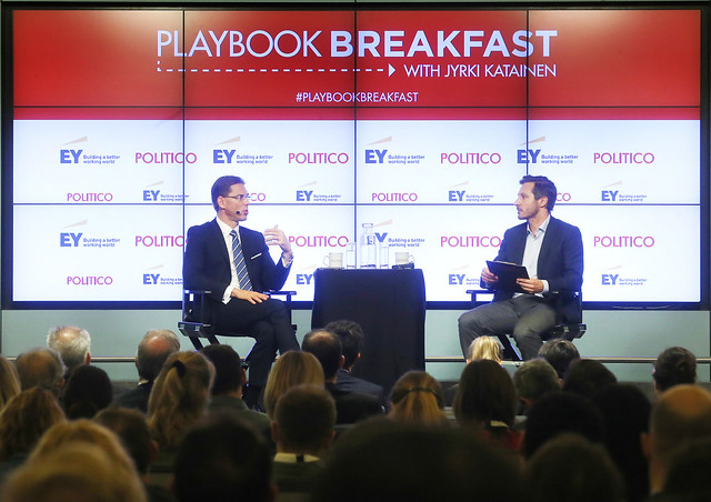 20160405 Playbook Breakfast with VP Katainen