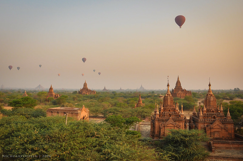 Bagan - Hot Air Balloons