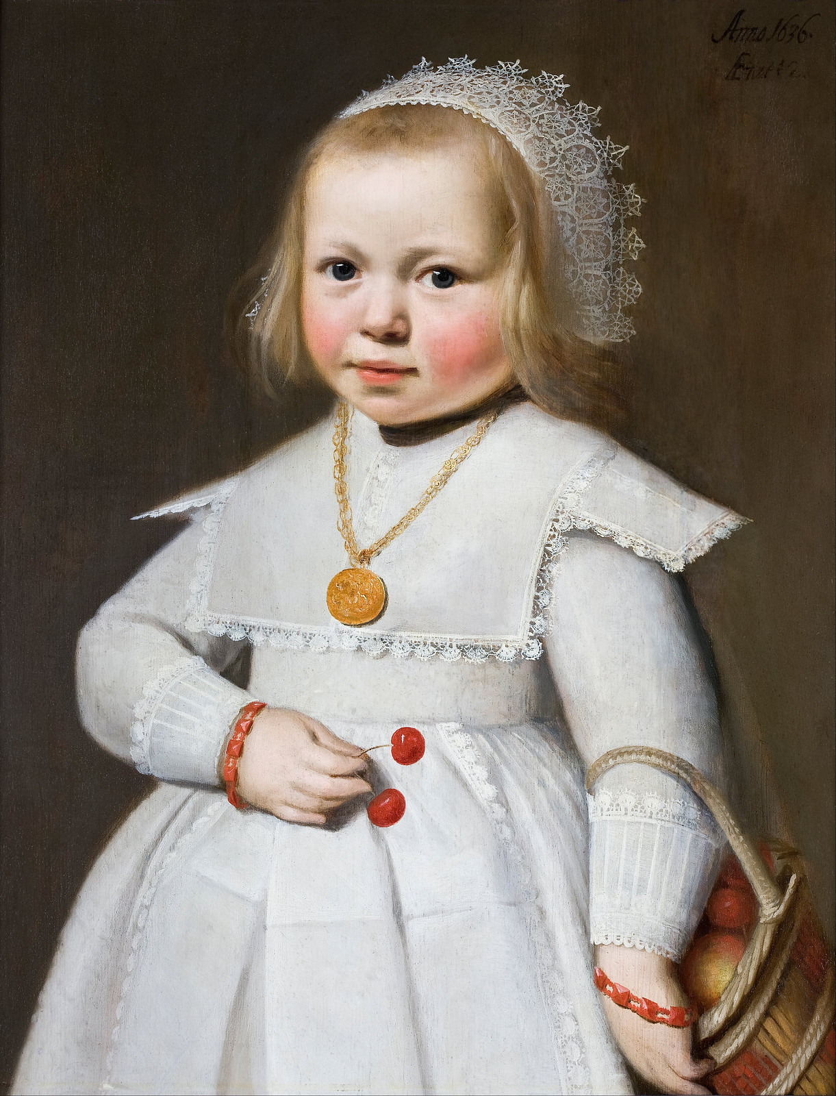 Portrait of a Two-Year Old Girl by Jan Cornelisz (1636)