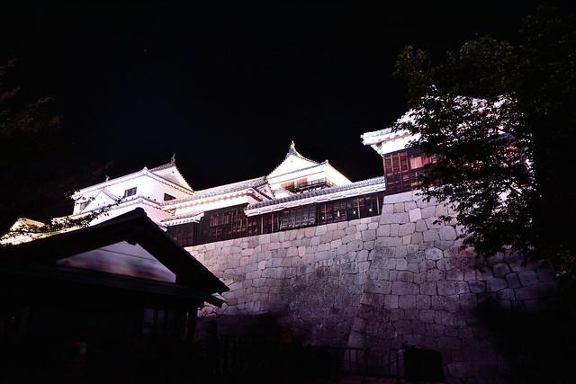 松山城夜景3