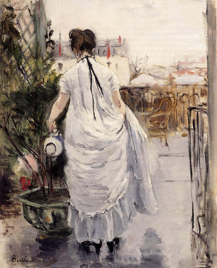 Young Woman Watering a Shrub by Berthe Morisot, 1876