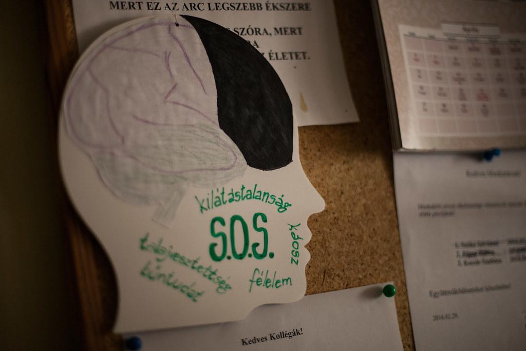 A recepció melletti hirdetőtábla részlete | Fotó: Magócsi Márton